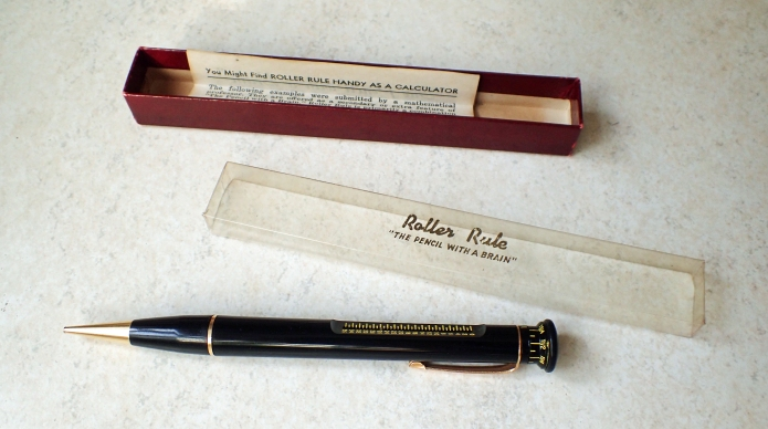 Roller Rule and packaging in which sold