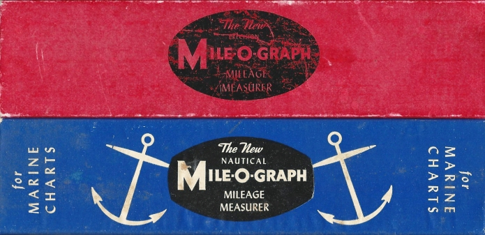 The nautical version of the Mile-O-Graph came in a striking attractive blue box