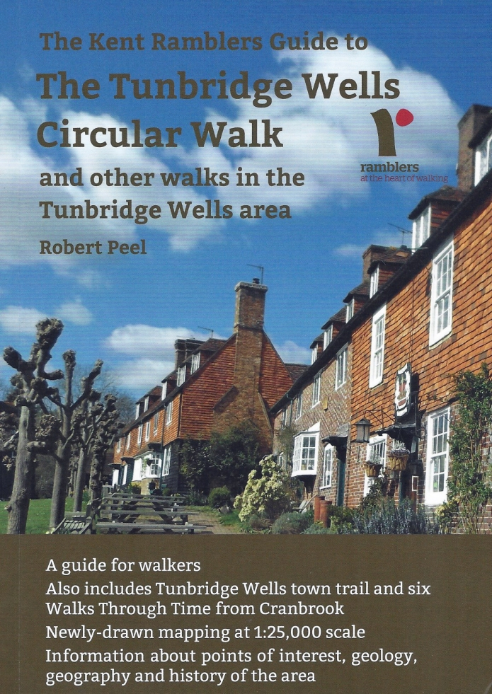 The Tunbridge Wells Circular Walk. Published by Kent Ramblers, 2020. This guide book demonstrates a balance in practicality, information, clarity, accuracy and mapping, alongside a cracking walking route, that is at the pinnacle of excellence in guidebooks
