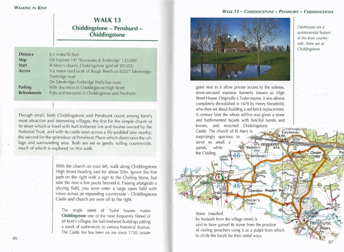 Part of Walk 13, from- Walking in Kent, Kev Reynolds. This is the 2007 edition published by Cicerone