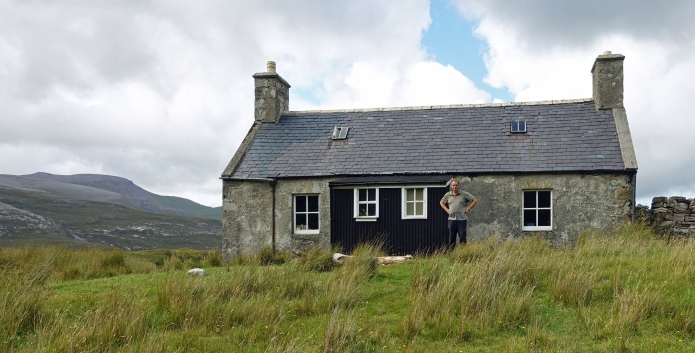 Three Points of the Compass as Strabeg bothy. Srath Beag, 1.5 miles from Loch Eriboll, North West Sutherland