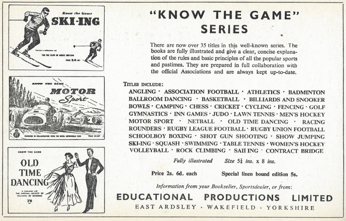 1958 listing of Know the Game series