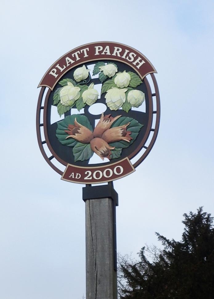 Platt village sign