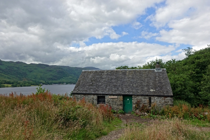 Doune Byre Bothy, sitting above Loch Lomond, West Highland Way
