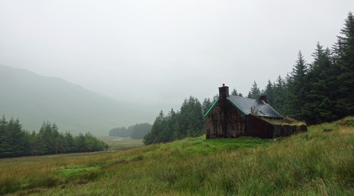 A'Chuil bothy is a popular halt for those on the Cape Wrath Trail