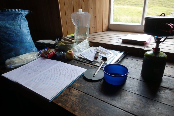 Always take time out to read and add to the bothy book