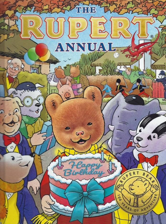 Album No. 85 published in 2020- Rupert's 100th birthday. Cover illustration by Stuart Trotter