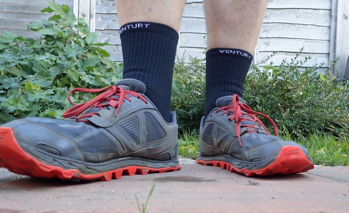 Silverlight socks with Altra Lone Peak shoes