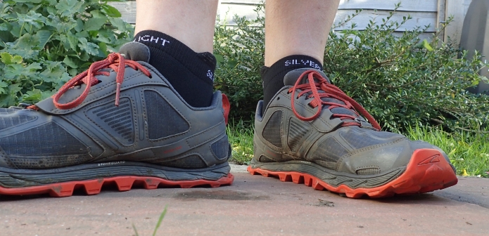 Silverlight Ankle length socks with Altra Lone Peak shoes