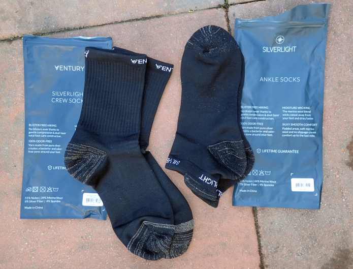 Each pair of socks comes in a small and simple resealable sleeve