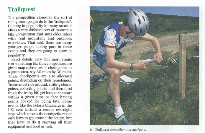 Detail on Trailquest from Know the Game- Mountain Biking, 1997
