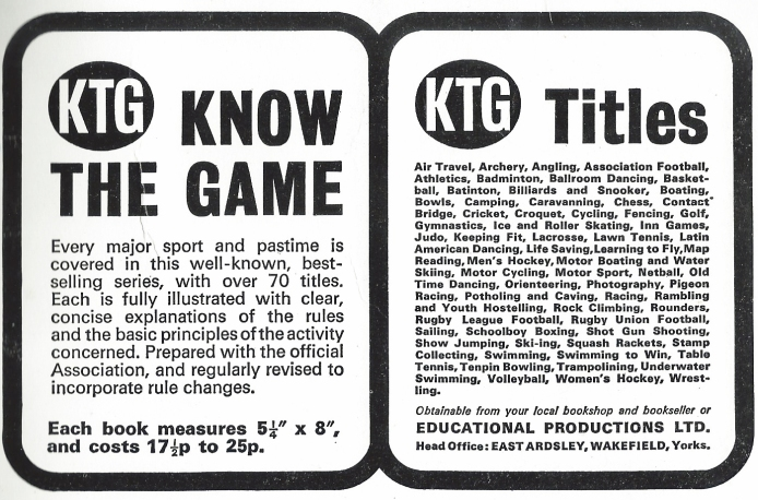 Advertisement for Know the Game series, 1973