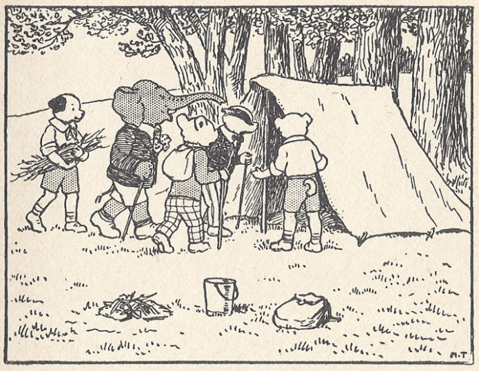 Panel from Rupert goes Hiking story