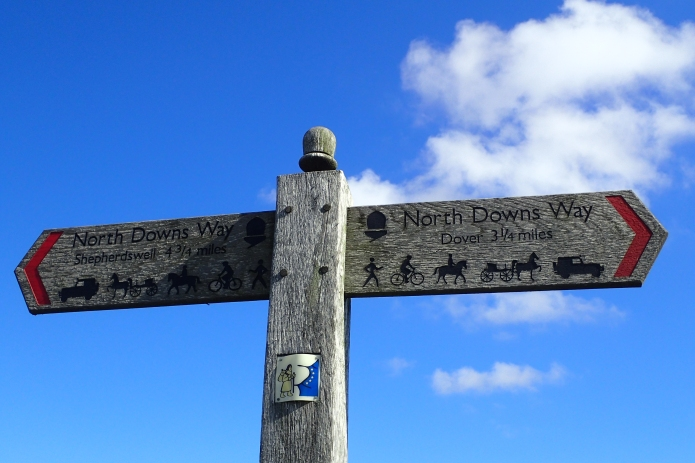 North Downs Way, Shepherdswell to Dover