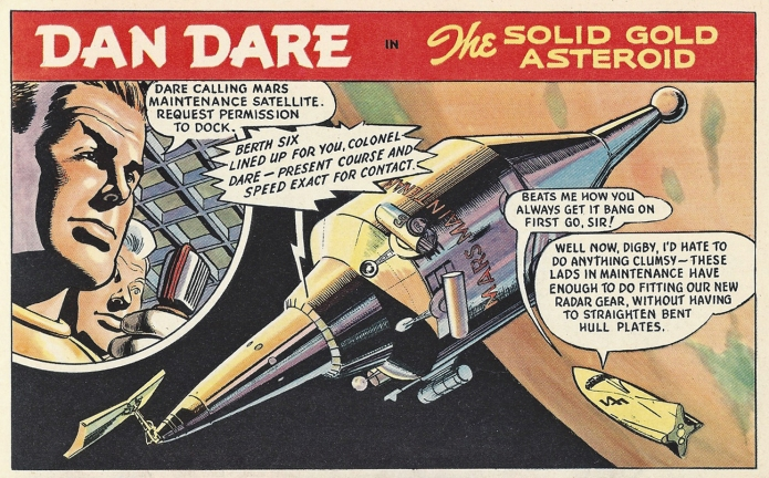 Comic book hero Dan Dare, from 1962 Eagle Annual