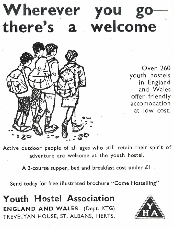 YHA advert from 1972 edition of Know the Game-Rambling and Youth Hostelling