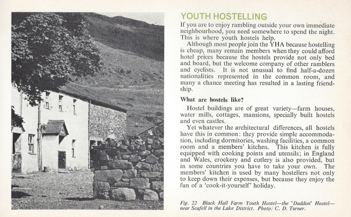 Introduction to section on Youth Hostelling, from 1967 Know the Game volume