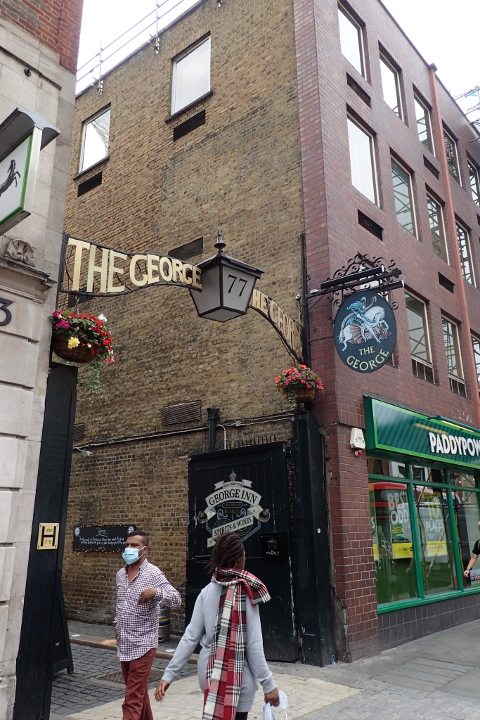 Entrance to the 17th century George Inn, once frequented by William Shakespeare