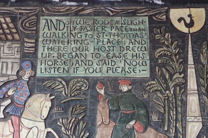 Detail from Adam Kossowski ceramic mosaic at former North Peckham Civic Centre