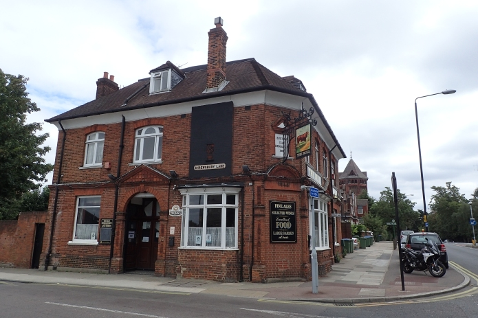 The modern Bull Tavern, an 1881 replacement for the original and now set back from the road