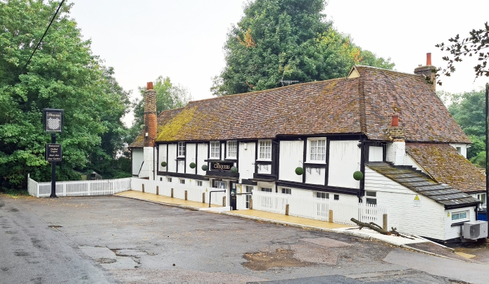 The Chequers Inn at Darenth is partly Elizabethan. More importantly, it was closed