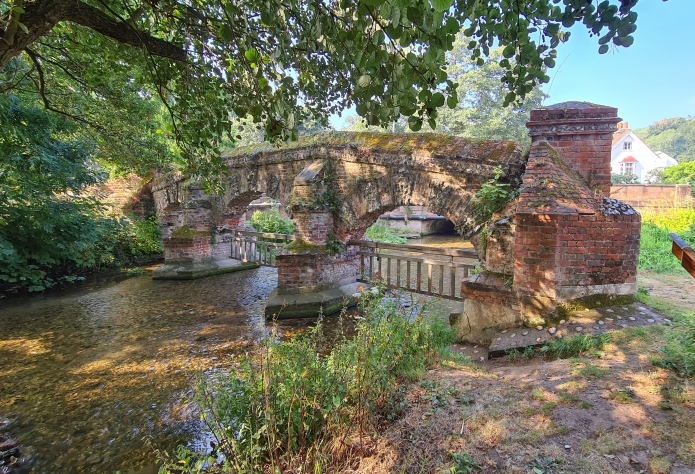 The unique ornate brickbuilt Cattle Screen at Farningham was built 1740-1770 and was intended to stop cattle straying down the river when crossing the ford