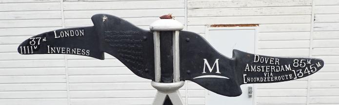 Directional fingers on 'Rowe' type milestone, Gravesend, Kent