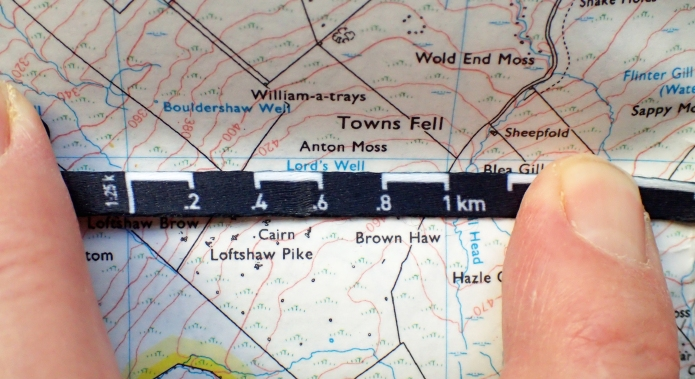 Measuring across the one kilometre grid on a map shows the Silva scale to be reasonably accurate