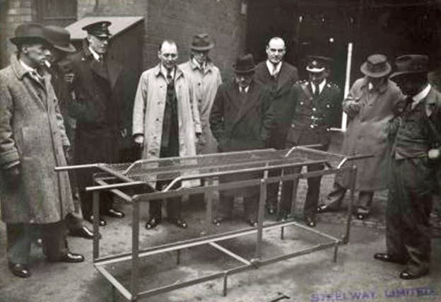 WWII metal stretchers for use by ARP