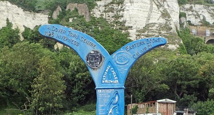 'Fossil tree' Millennium Milepost, Dover, Kent