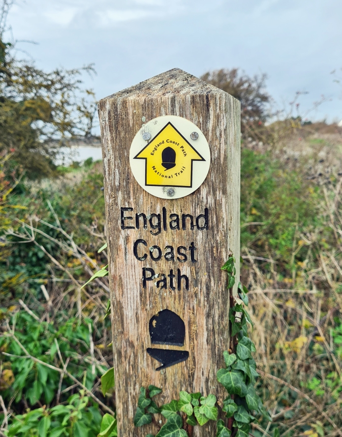 England Coast Path signage- approaching Sandwich