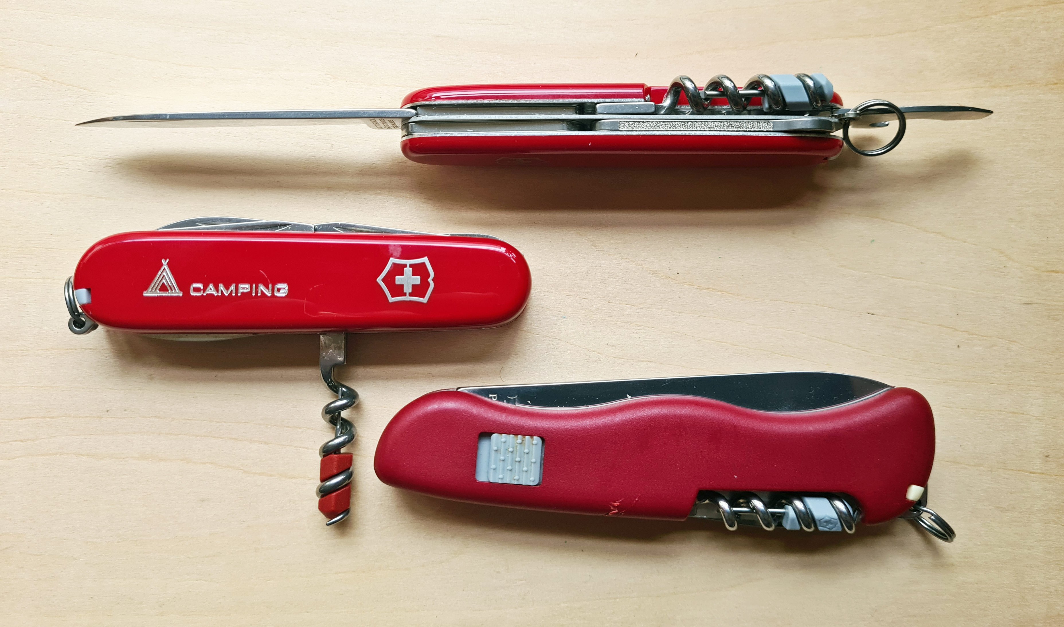 Mini Tools on Victorinox Compact, Camper and Picknicker