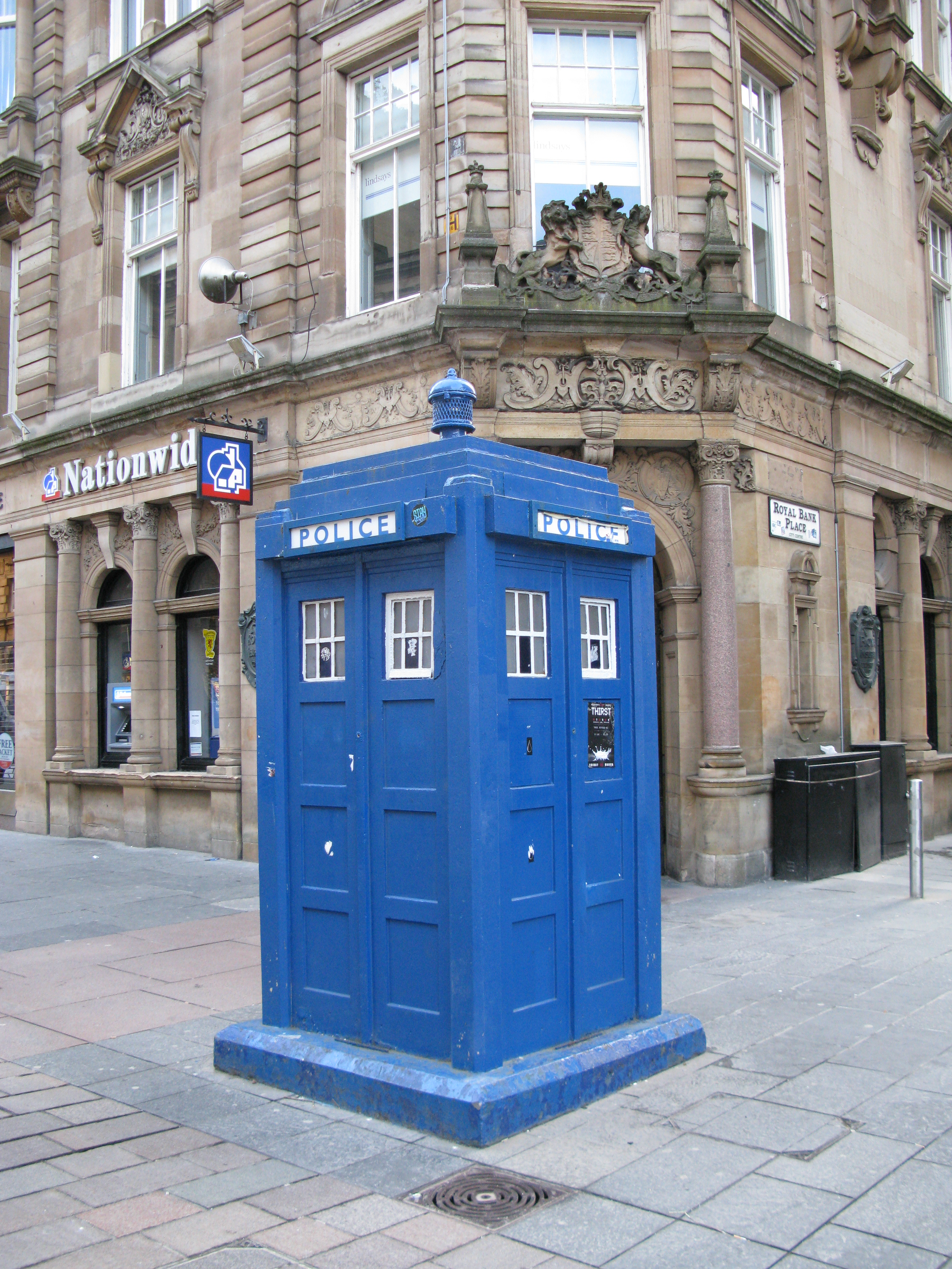 Police telephone kiosk. Glasgow, spotted while en route to the start of the West Highland Way
