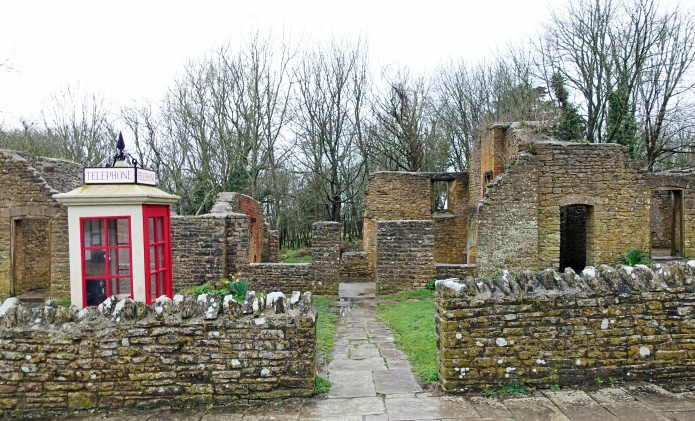 Walking the South West Coast Path and wild camping out on the cliffs, Three Points of the Compass was able to make an early morning visit to the abandoned town of Tyndrum before any other visitors. This is the ruined village post office, with K1 telephone kiosk at the entrance