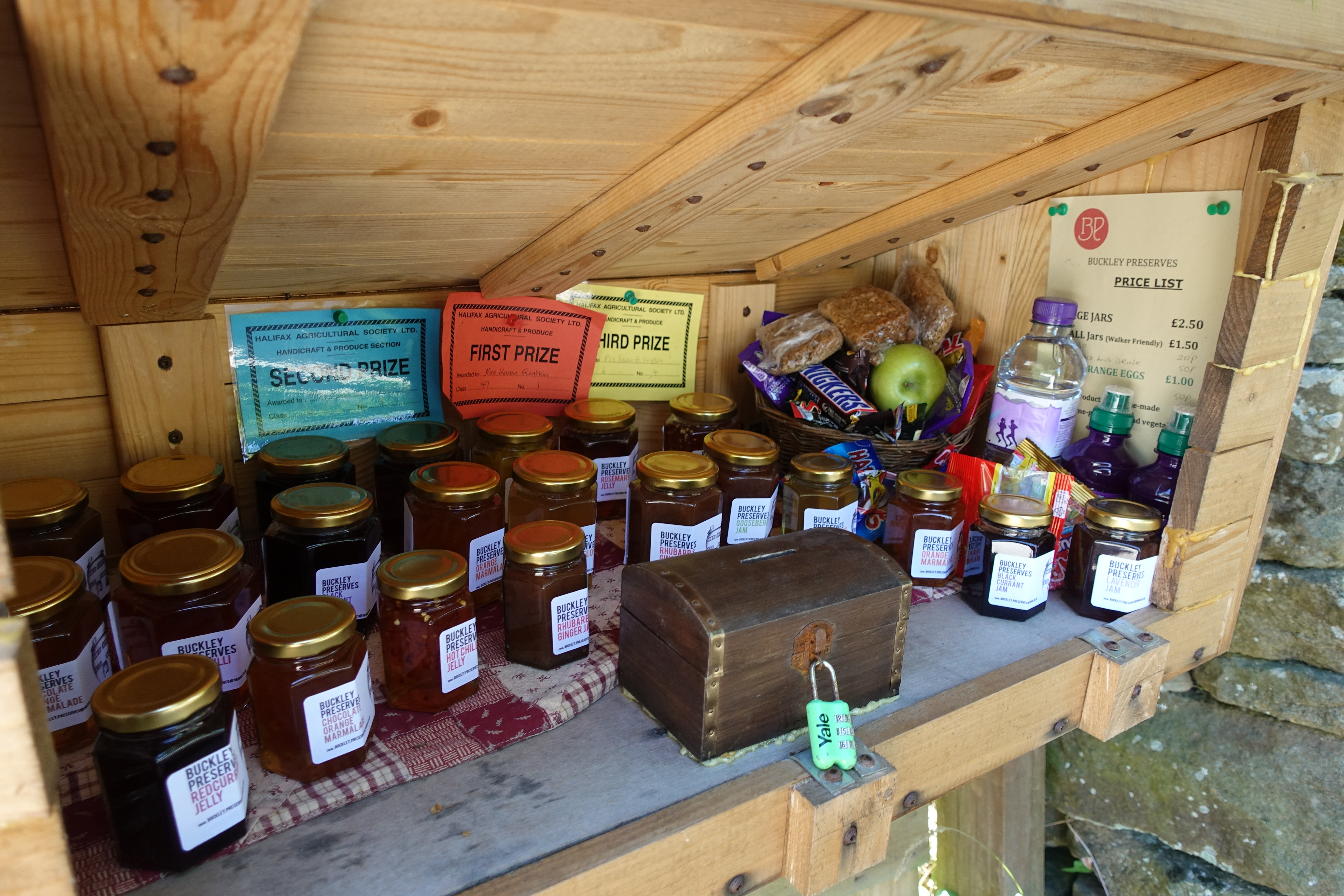 Another Offas's Dyke honesty box, in common with the previous, there is little here of practical use to the hiker