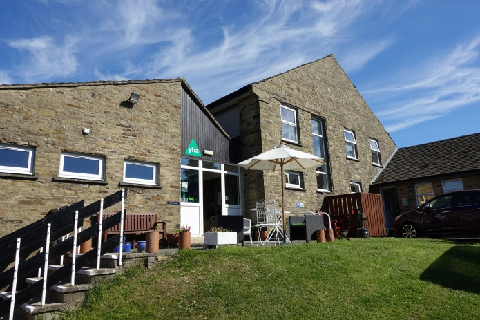 It used to be possible to walk from YHA hostel to hostel on the National Trails. That has not been the case for some time. This is YHA Hawes on the Pennine Way
