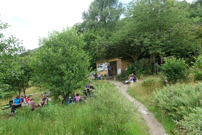 Three Points of the Compass has hiked the West Highland Way twice. The first time there was little in the way of opportunistic 'on trail' snack and food supplies. The second time, seasonal outlets had sprung up