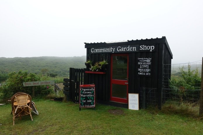 Community run outlet for locally grown produce. Approaching Kilchoan, Highlands. The most westerly village in Great Britain