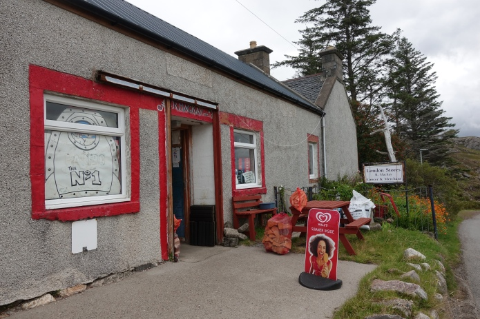 Mackay's London Stores at  Badcall are well known as something as a Cape Wrath institution. One of the last good calls for food before the end of trail