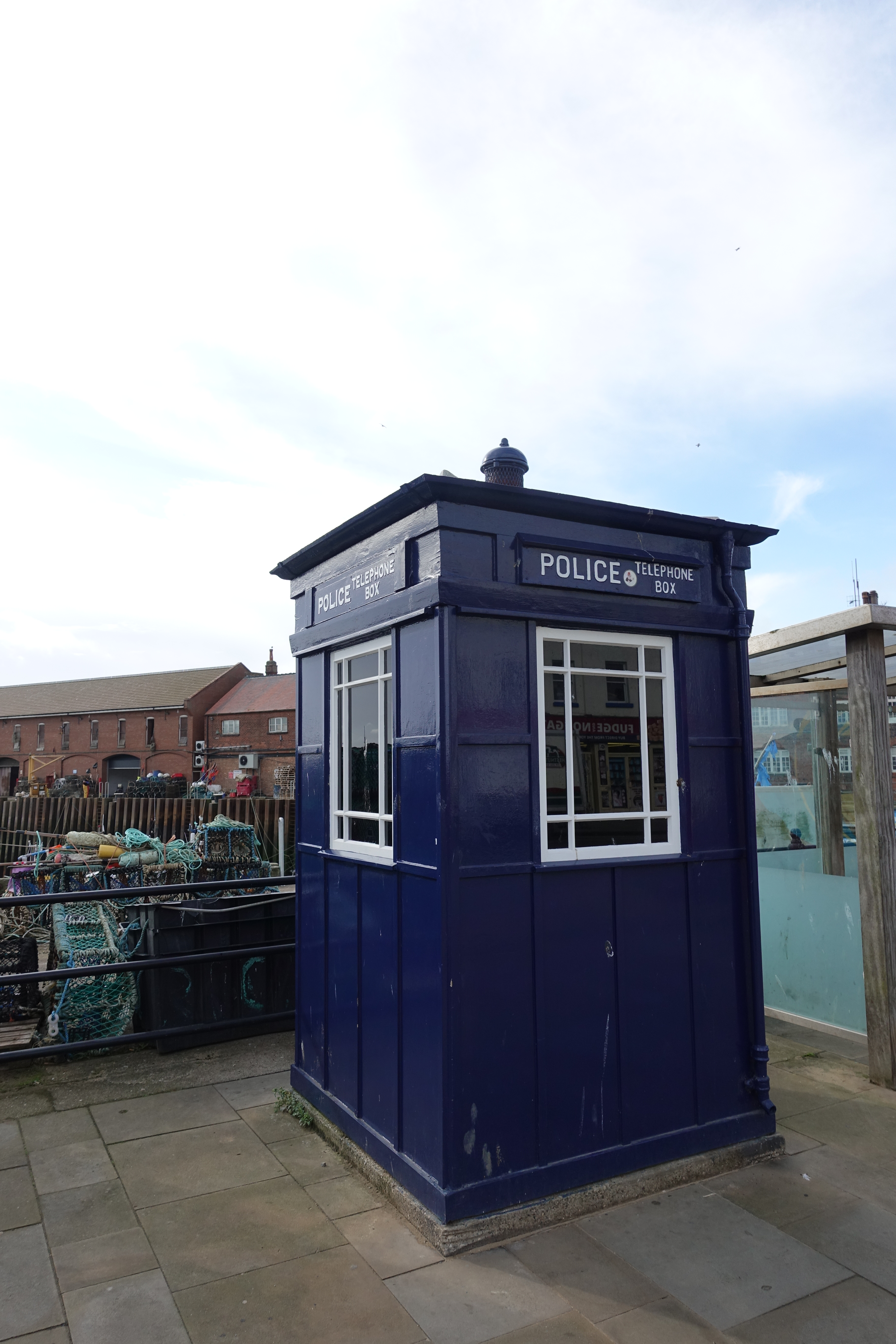 Police telephone kiosk- Filey, while on the Cleveland Way