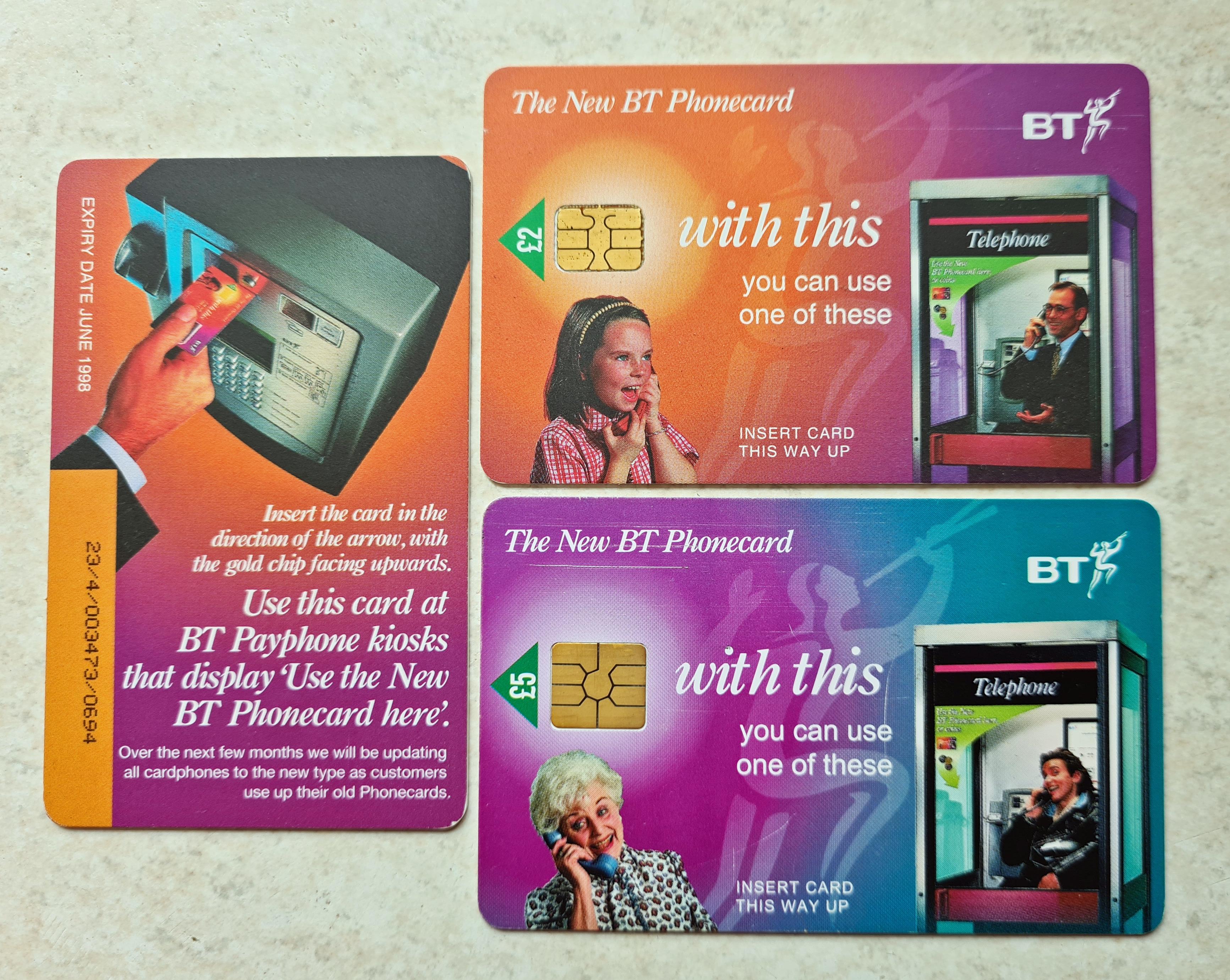 BT 'chip cards'