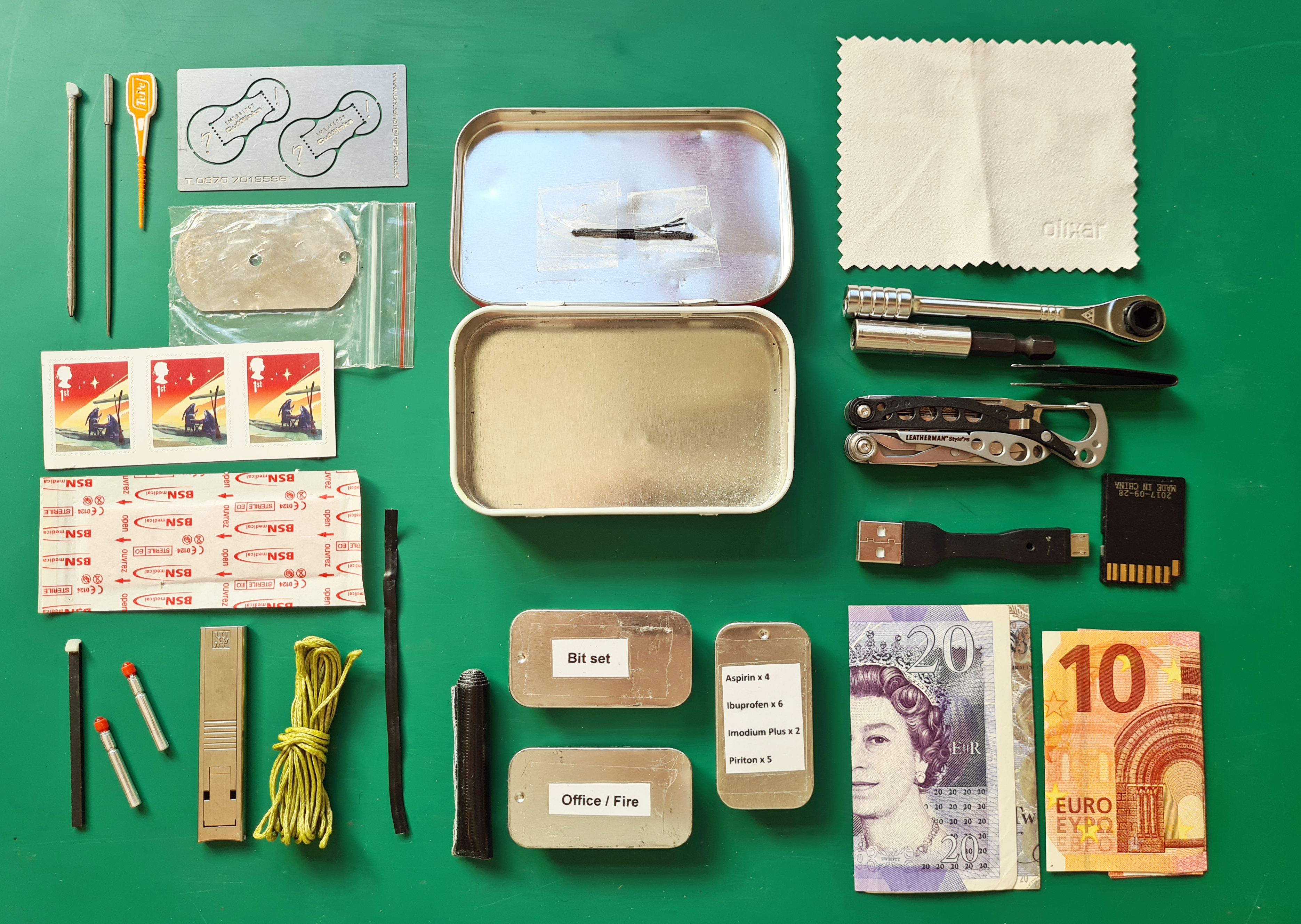 All layers removed from Urban Altoids kit