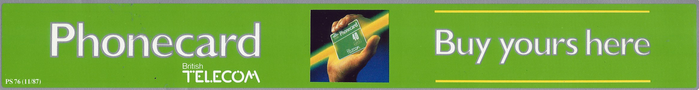 Phonecard advertisement, 1987