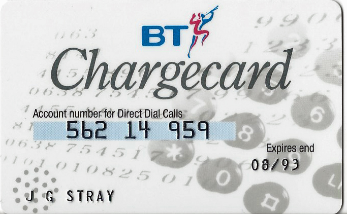 BT Chargecard