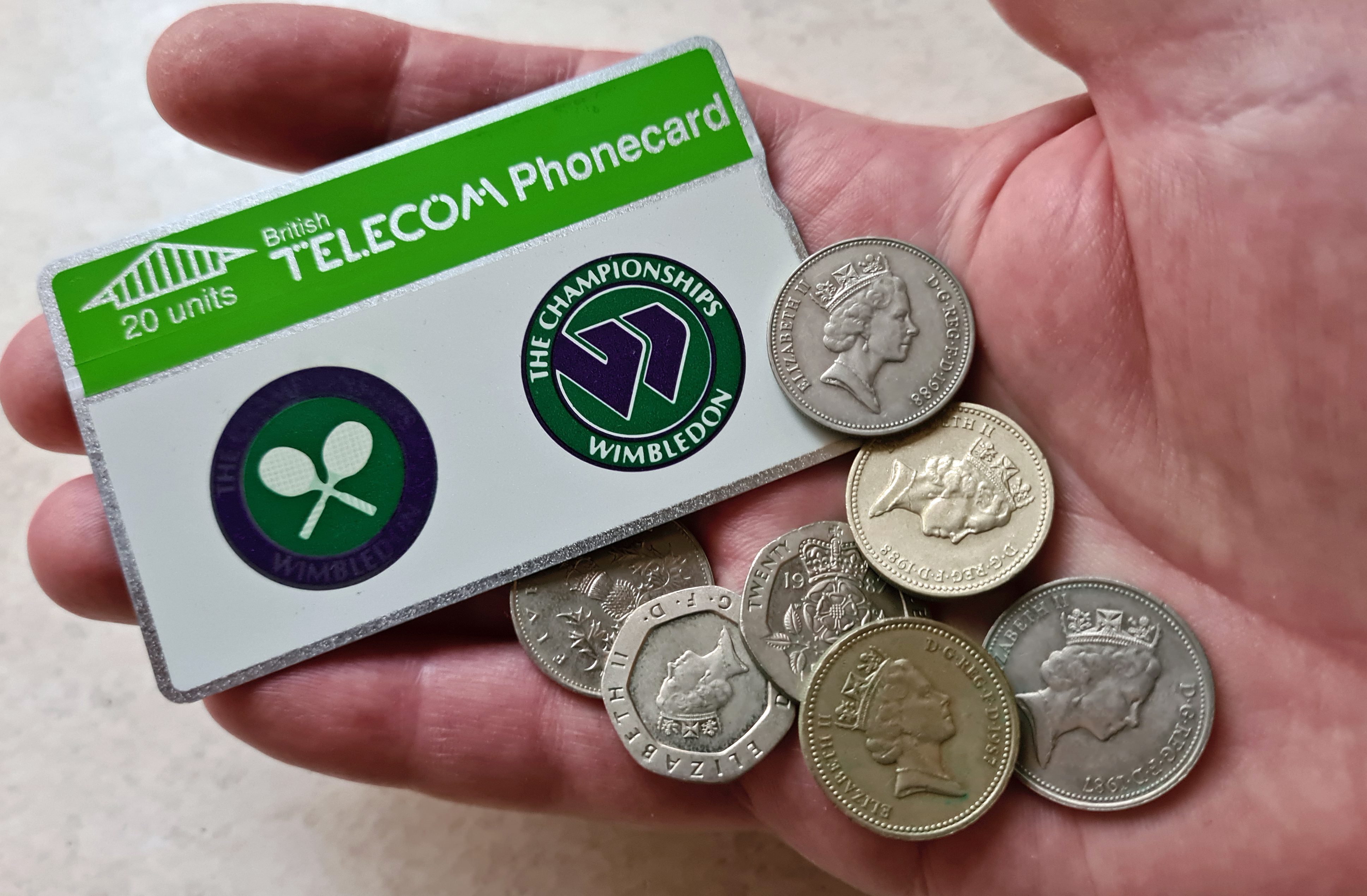 For just a couple of years in the mid to late 1980's, the independent traveller in the UK was advised to carry both change for the phone, and a Phonecard. This was prior to any mobile phone service being generally available