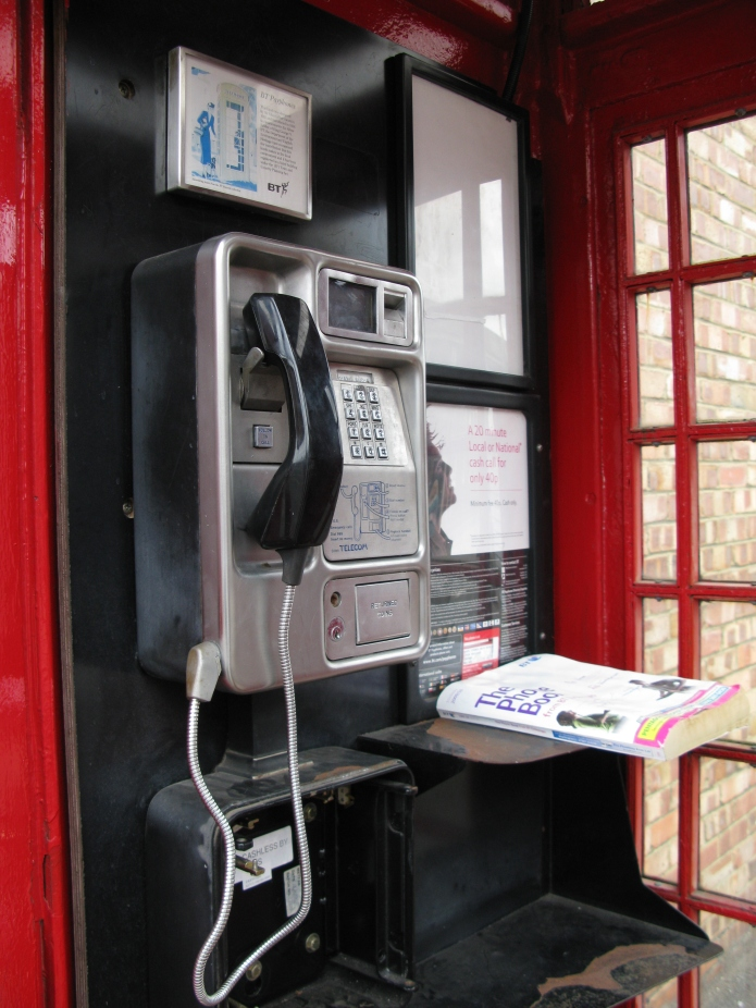 Few, if any, kiosk interiors are original. Phones and ancillary equipment is mounted on a back-board then simply removed, replaced and updated to the latest equipment