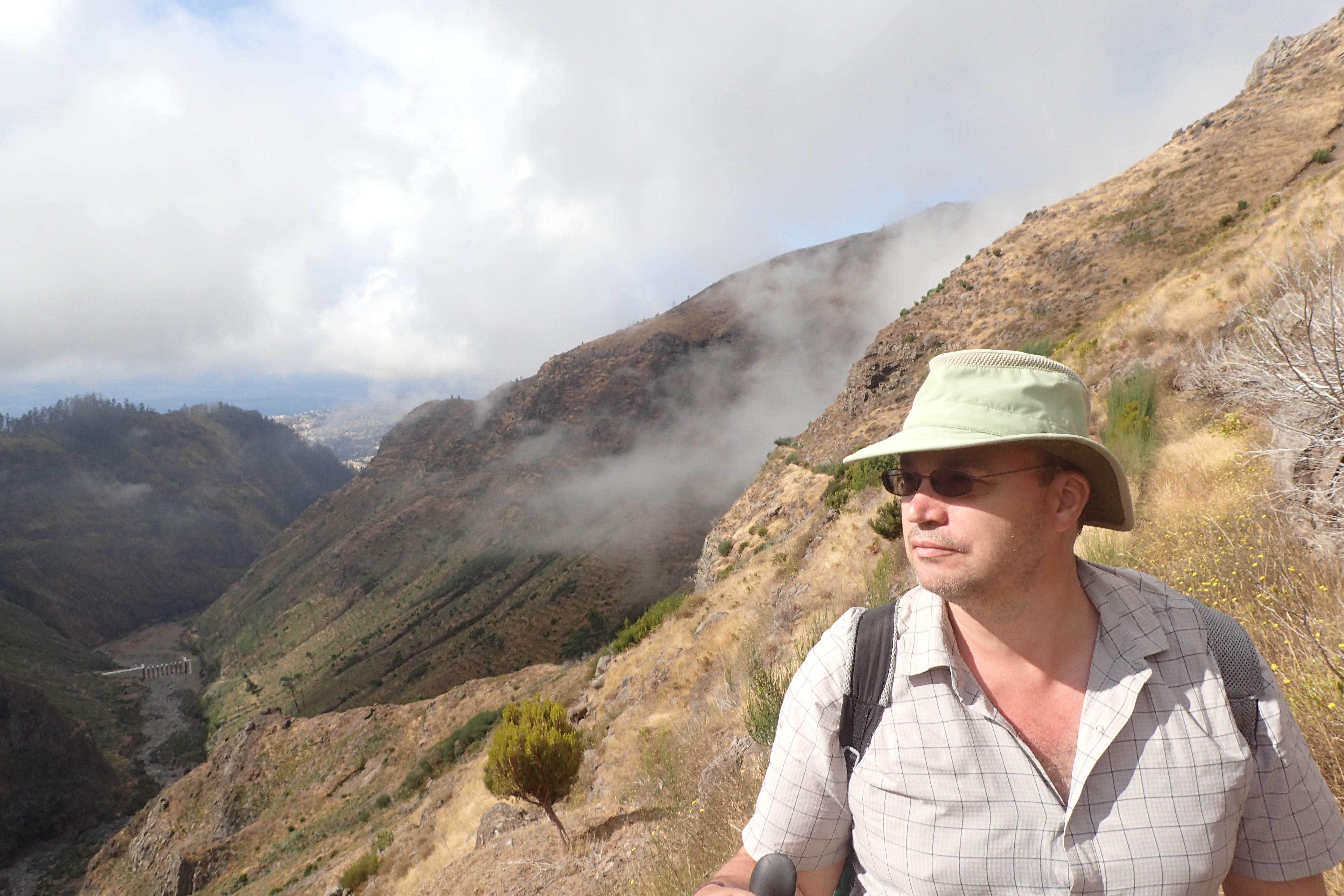 Tilly on Madeira hike