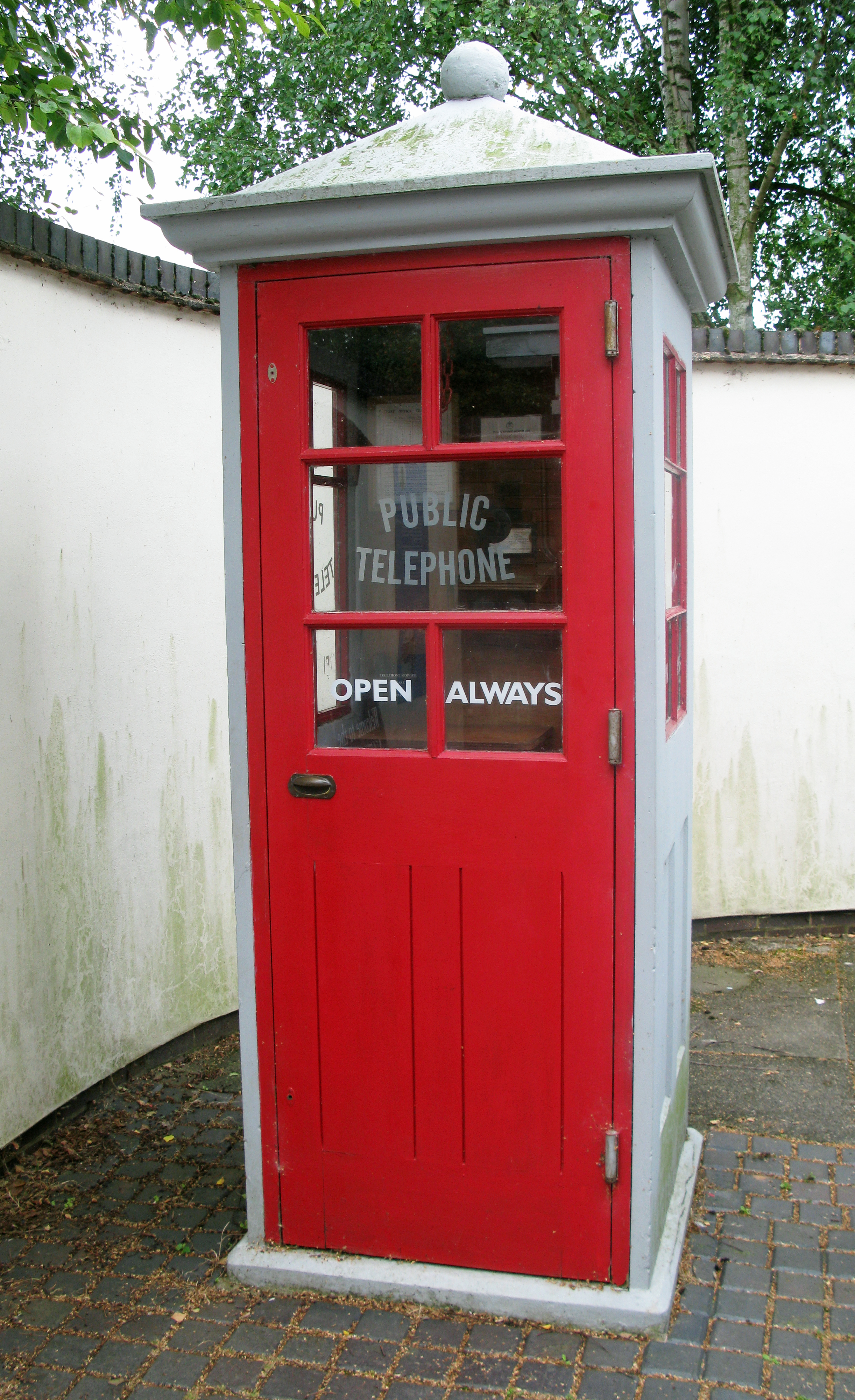 K1 at the National Telephone Kiosk Collection, at Avoncroft