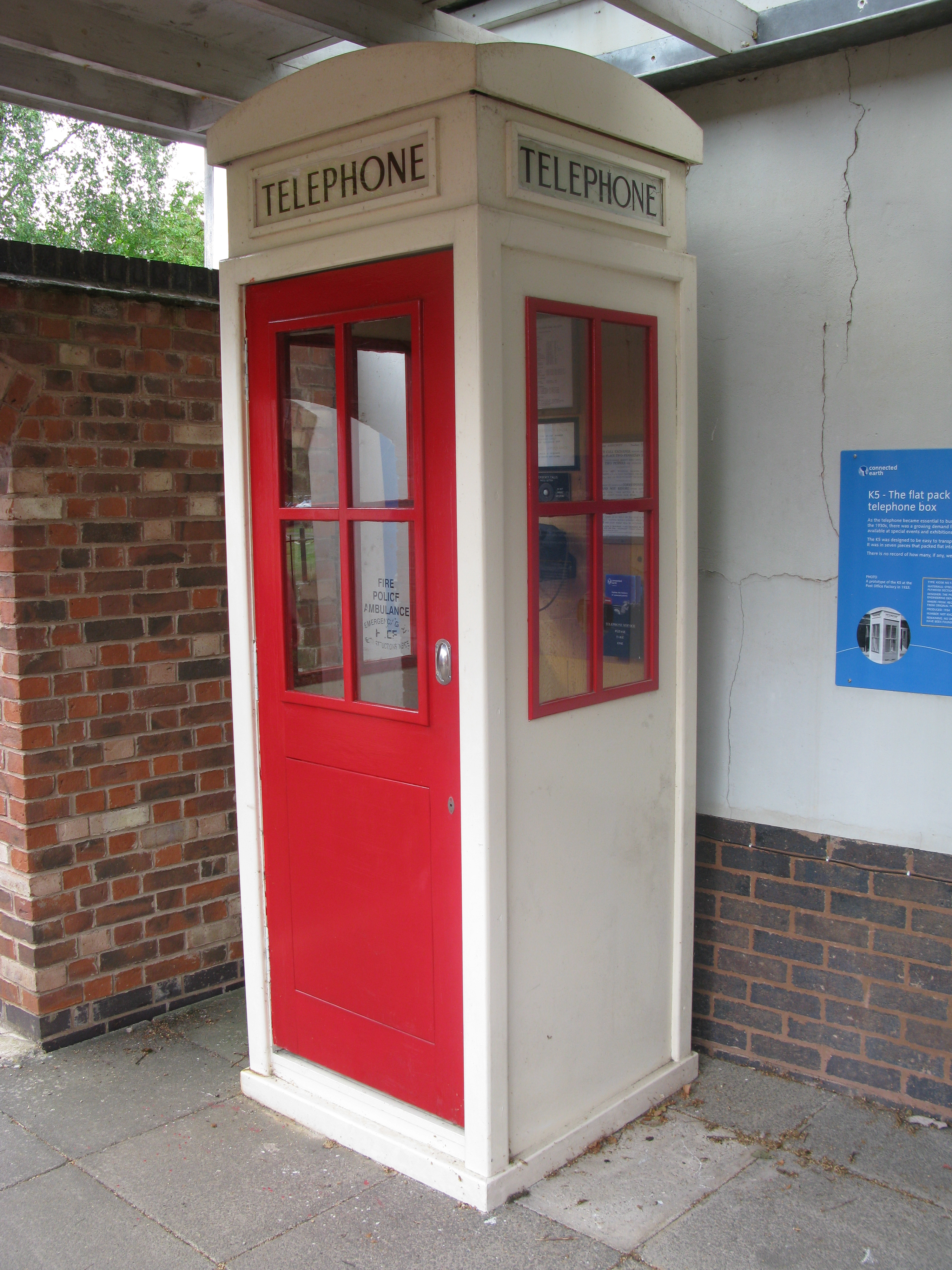 Recontruction of a K5 from original drawings. Part of the Avoncroft National Telephone Kiosk Collection