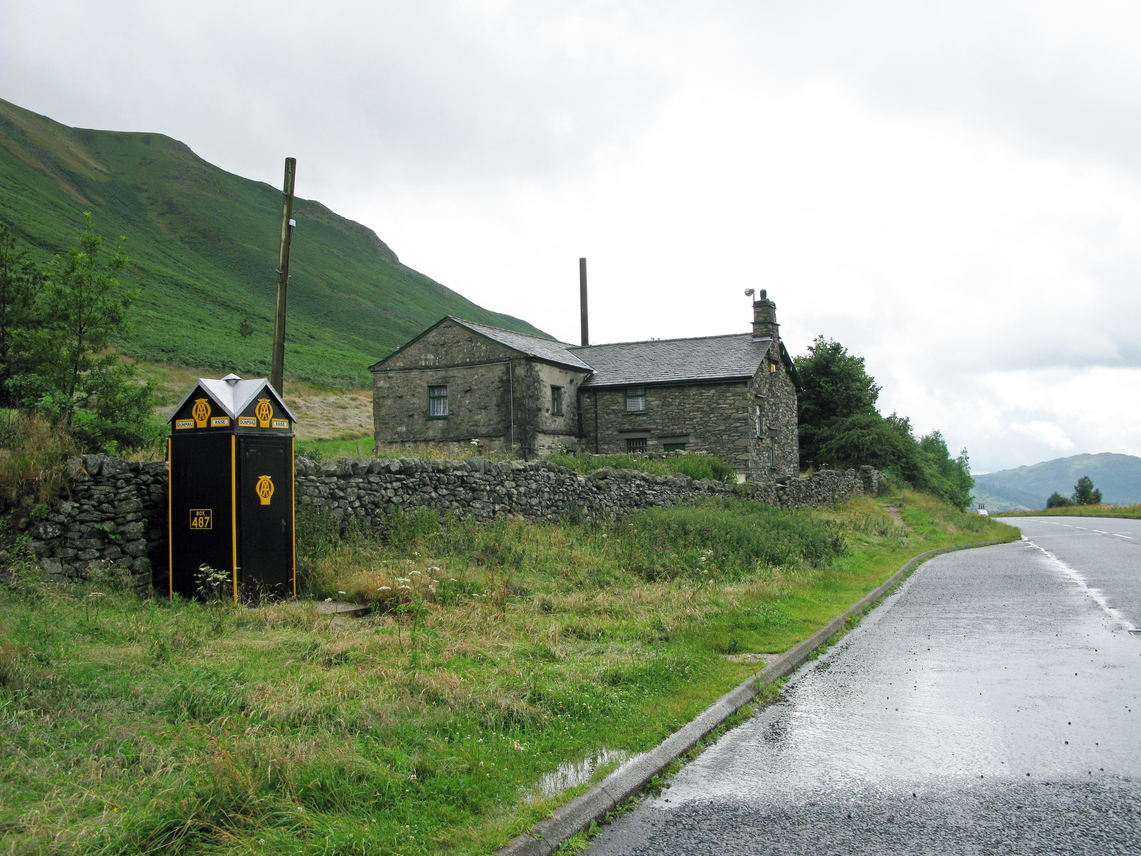 AA telephone kiosk. Lake District